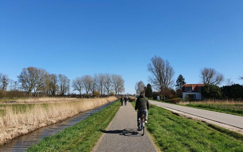 Wandelen fietsen polder hoekschs waard