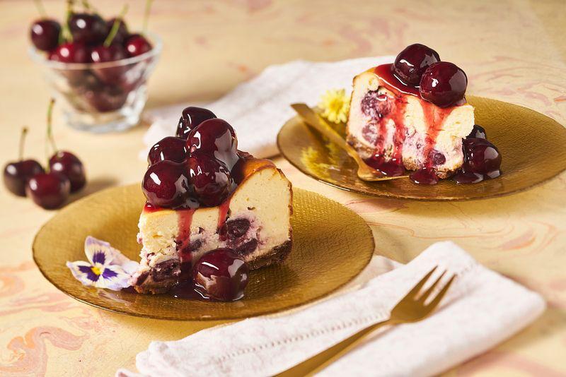 LekKers-Cheesecake met kersen
