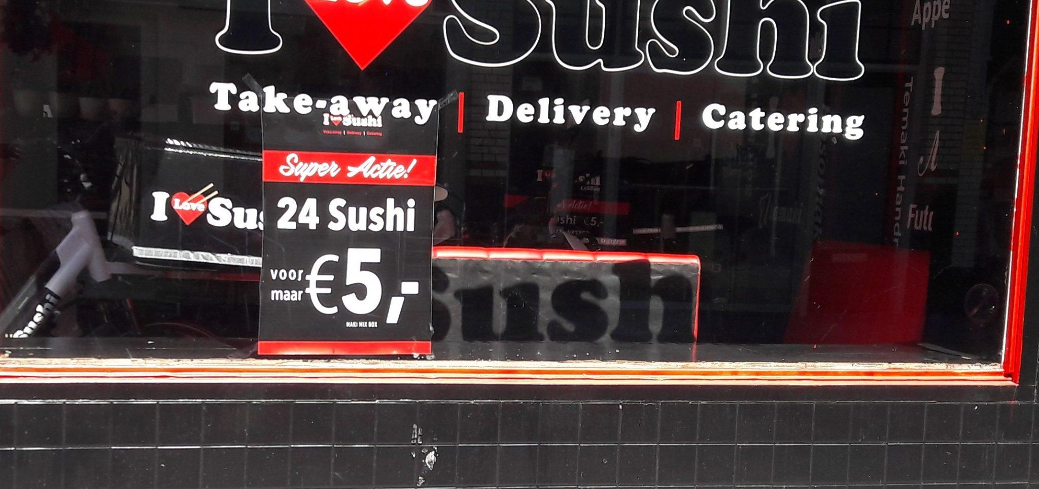 sushi aanbieding