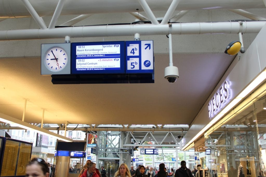 Leiden Centraal station trein perron