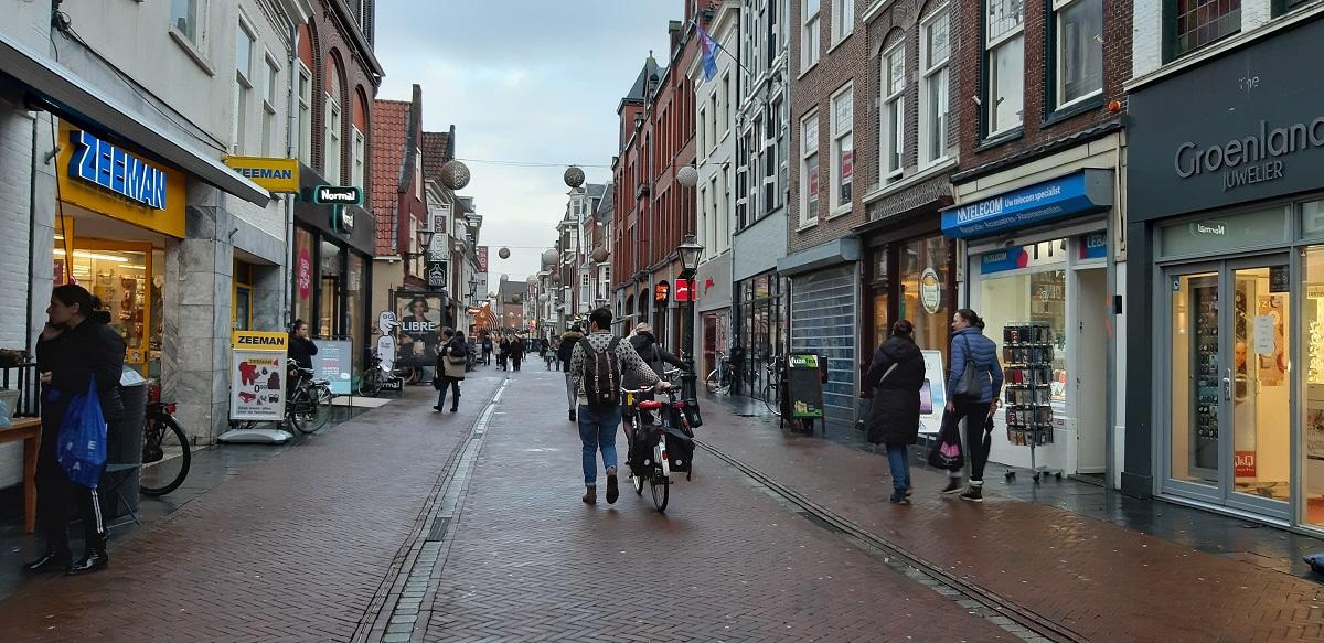 haarlemmerstraat leiden sleutelstad winkelen shoppen winkelstraat