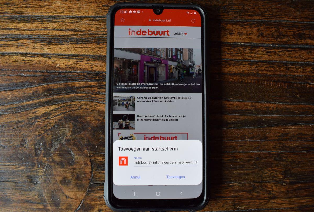 Android toevoegen aan beginscherm klaar indebuurt Leiden