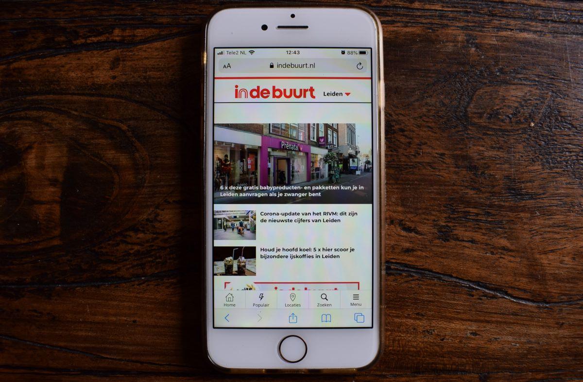IPhone startscherm indebuurt Leiden