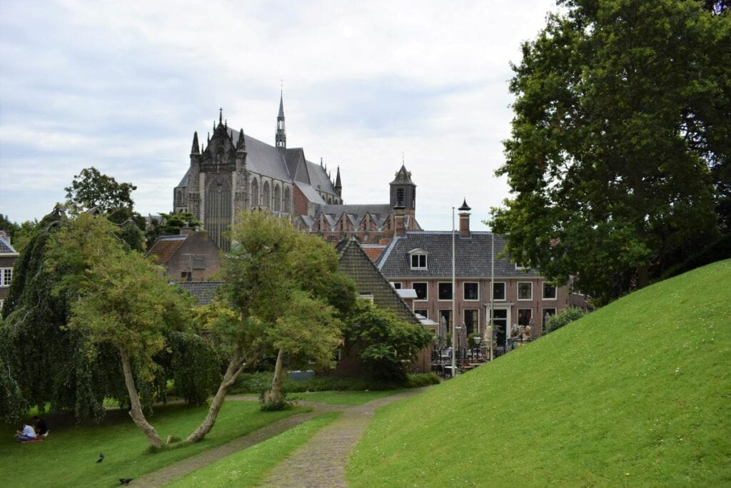 Hooglandse Kerk uitzicht Burcht