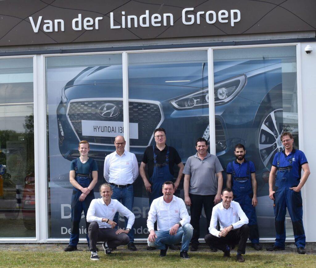 Teamfoto Leiden Van der Linden Groep
