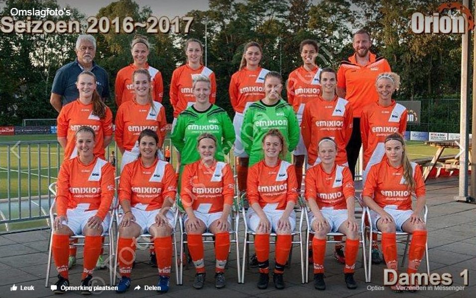 vrouwenvoetbal Orion