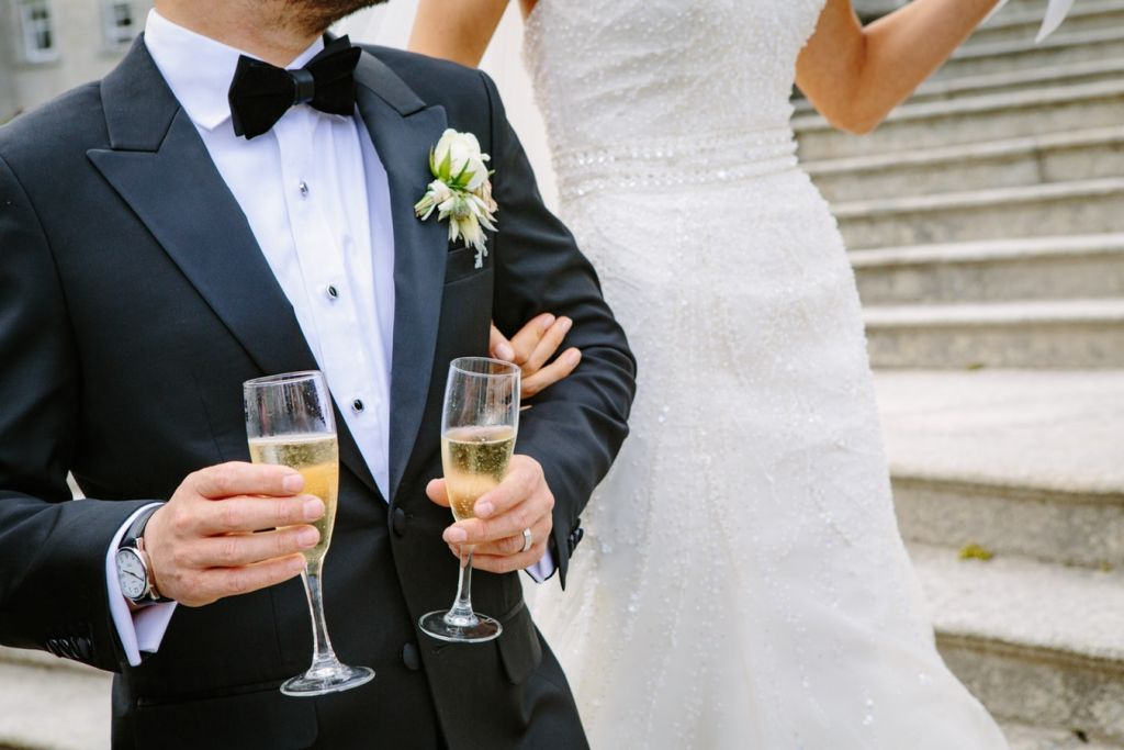 bruiloft bruidspaar