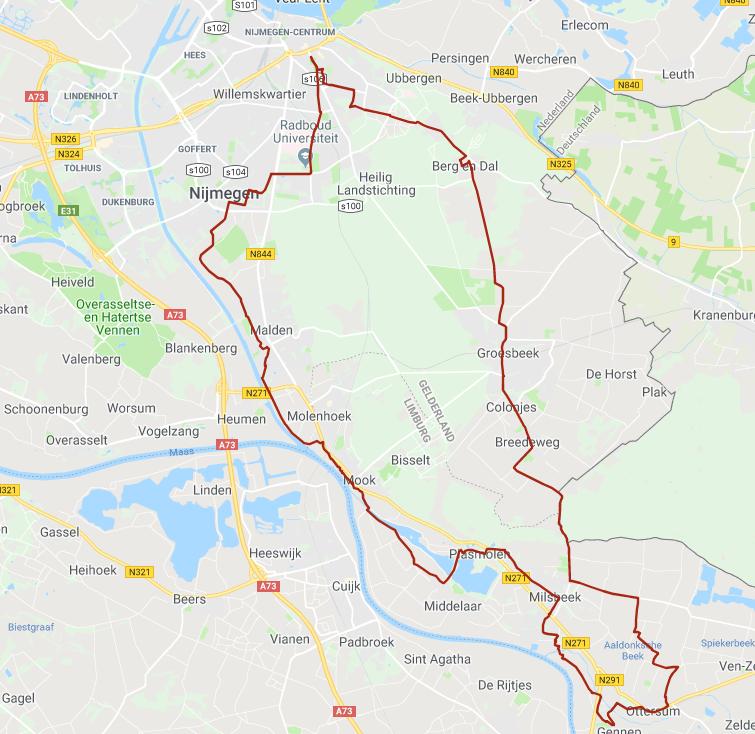 Vierdaagse donderdag 50km