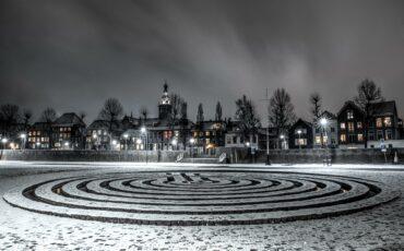 sneeuw in Nijmegen 2021