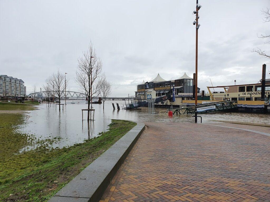 Hoogwater in Nijmegen