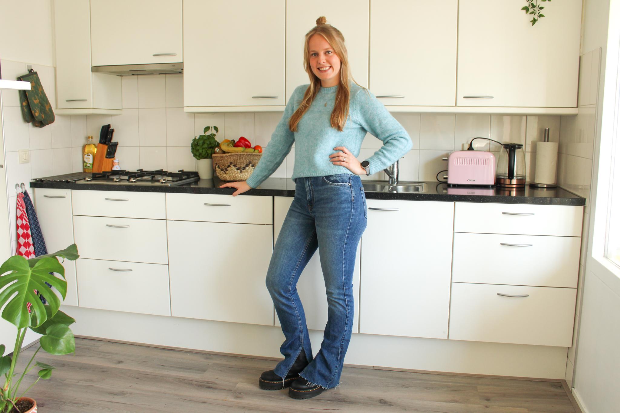 Elise Kaak in de keuken