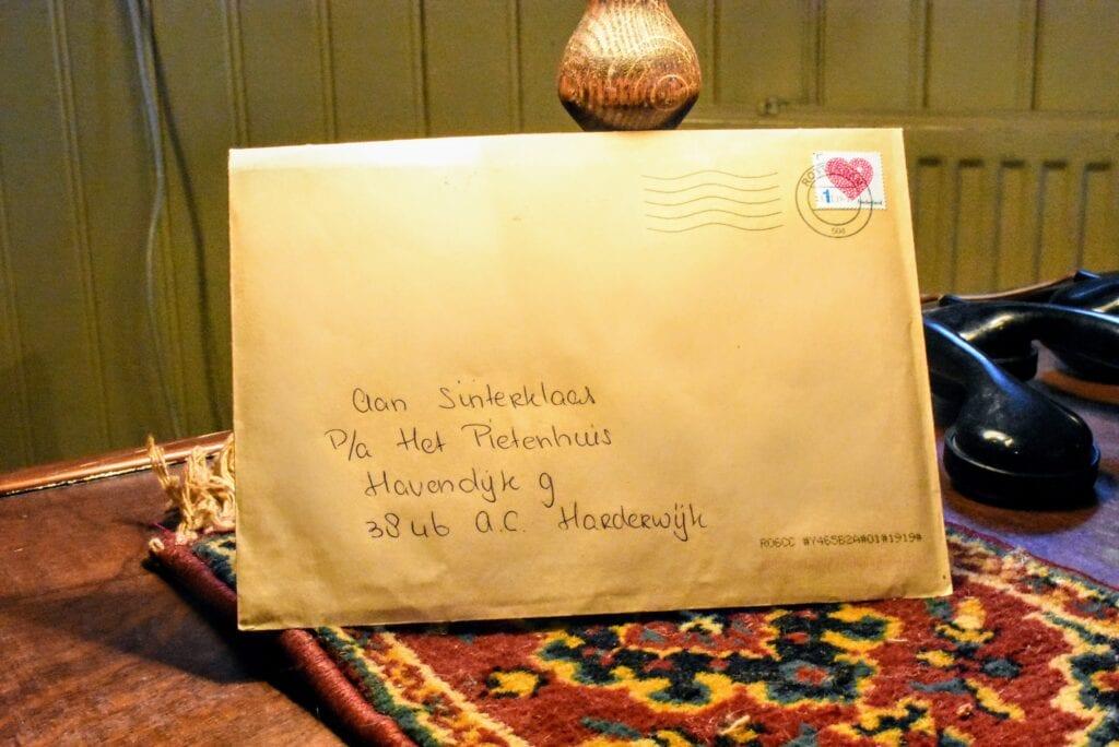 de eerste brief van Sinterklaas is al binnen. Foto indebuurt Randmeren
