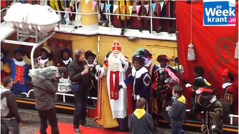 Sinterklaas in Harderwijk 2010. Still uit video