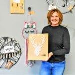 Jeanine Couwenberg in haar creatieve ruimte Bij Sfeergoed. Foto indebuurt Randmeren (2)