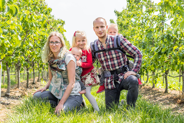 Olav Pranger en zijn gezin.