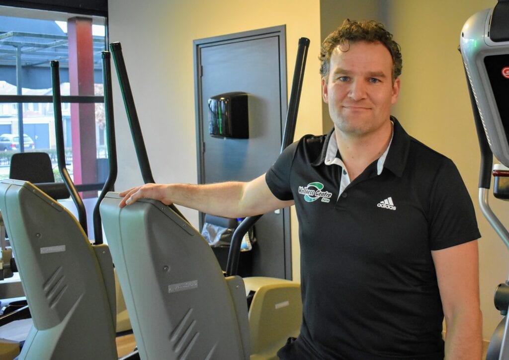 Timon Gakes van sportschool Wellness Centre Putten. Foto indebuurt Randmeren