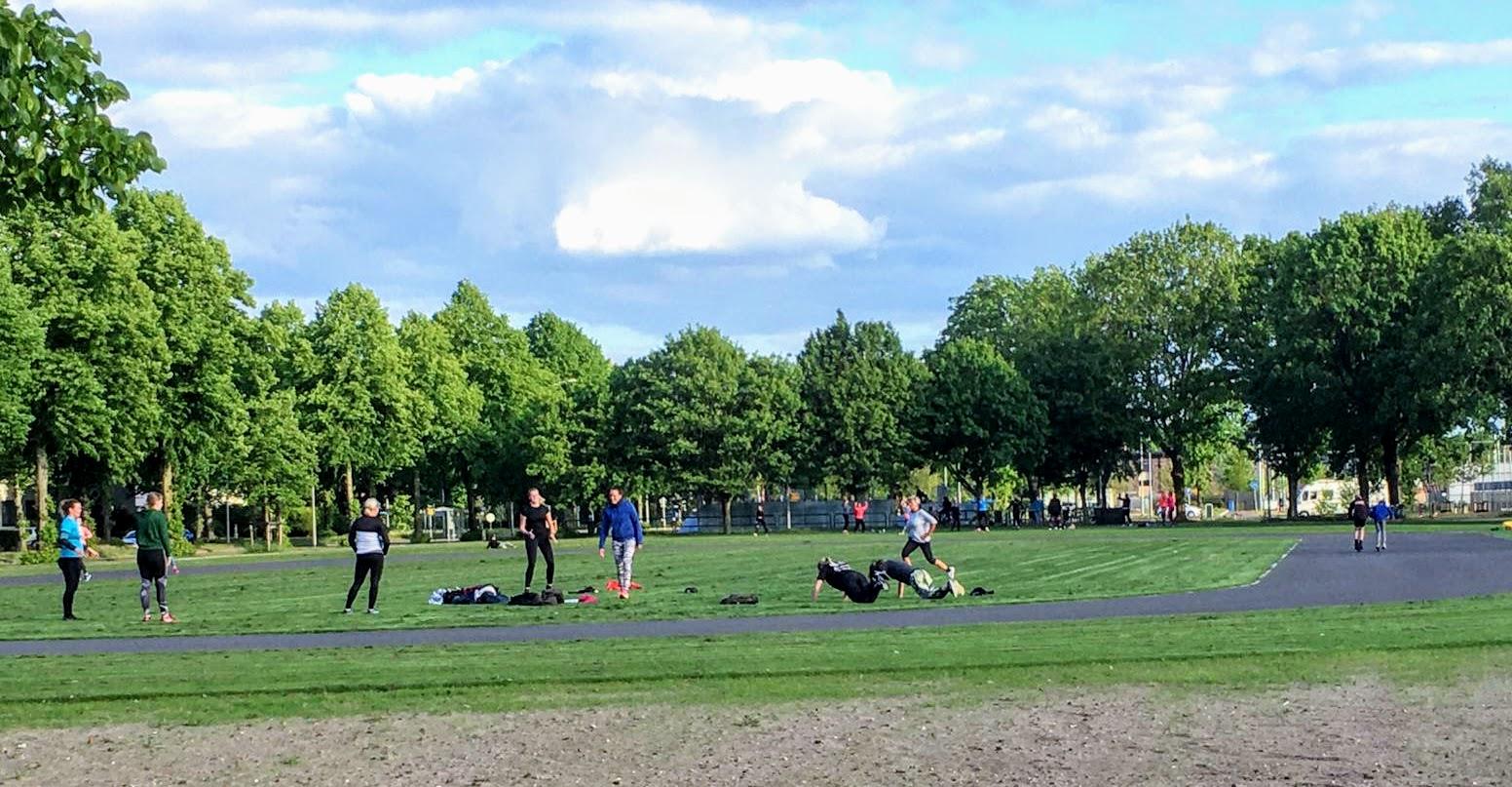 Buiten sporten in Harderwijk Parkweg