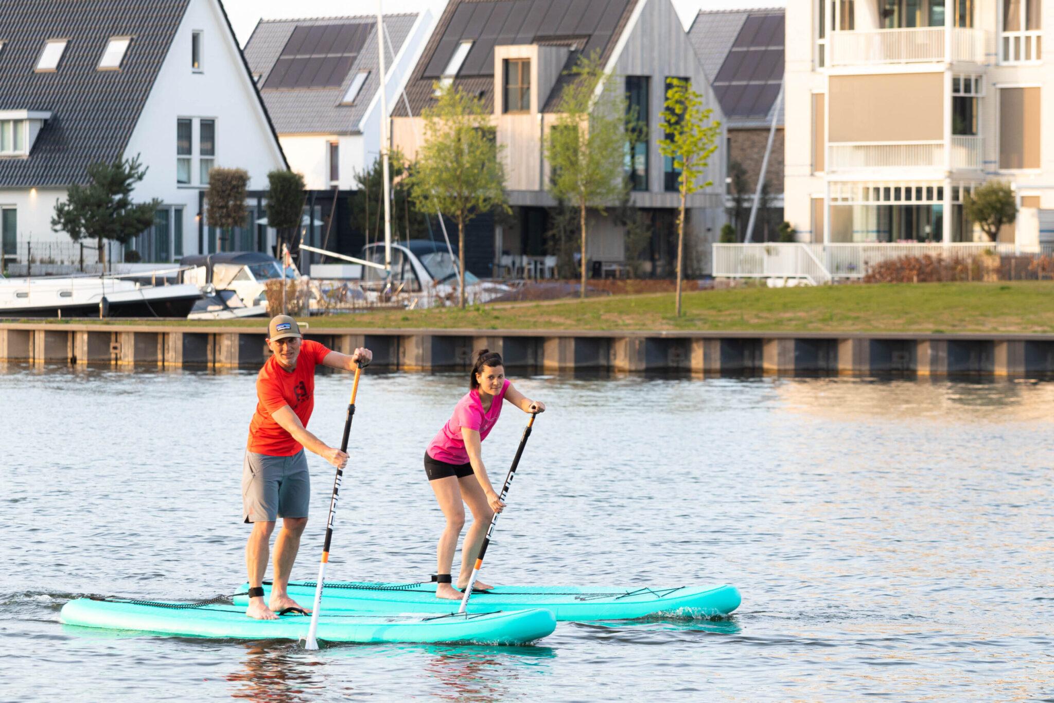 Marnix en Diane runnen nieuwe watersport in Harderwijk, suppen! Sup and go SUP&GO