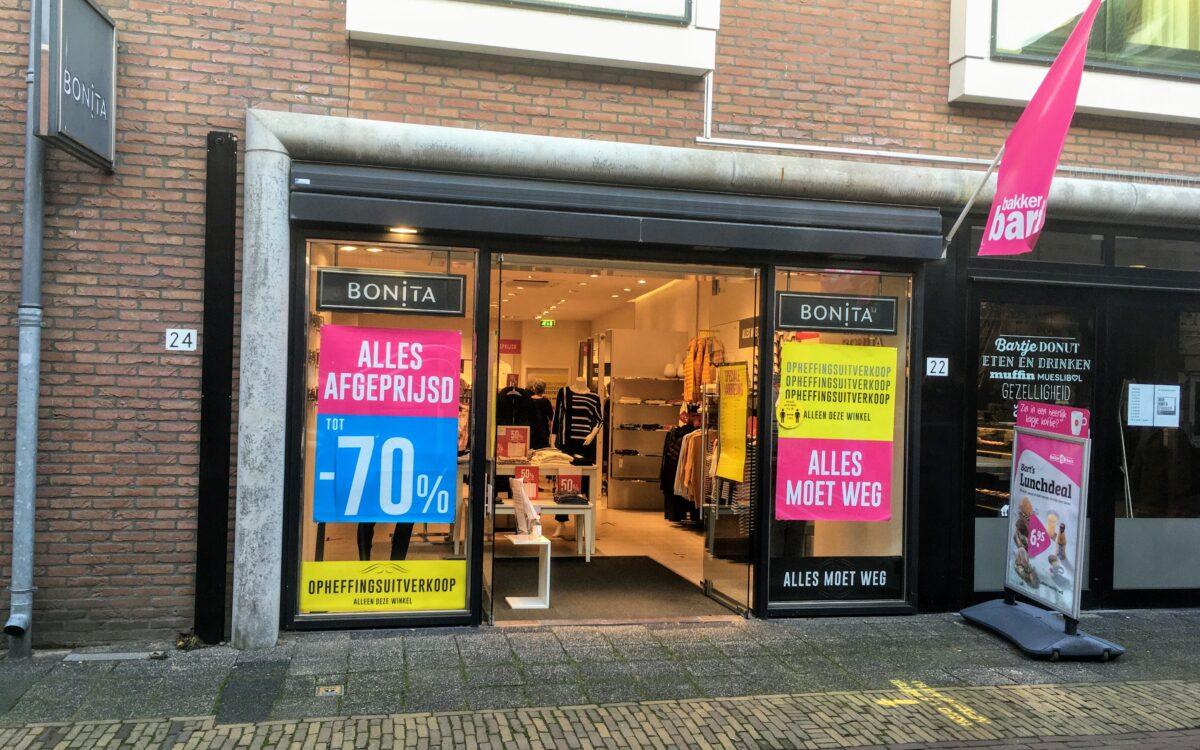kledingwinkel kledingzaak bonita putten coronacrisis dicht