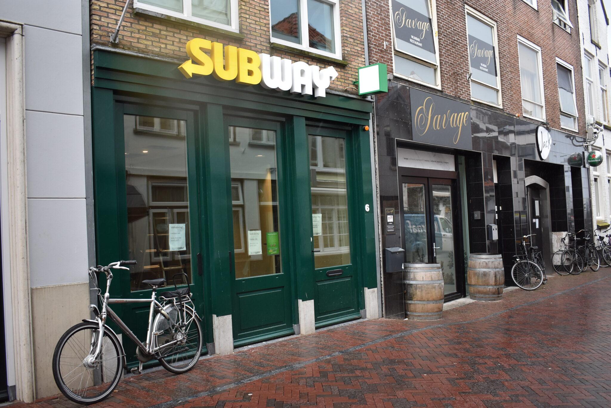 Subway tijdelijk dicht verbouwen gesloten