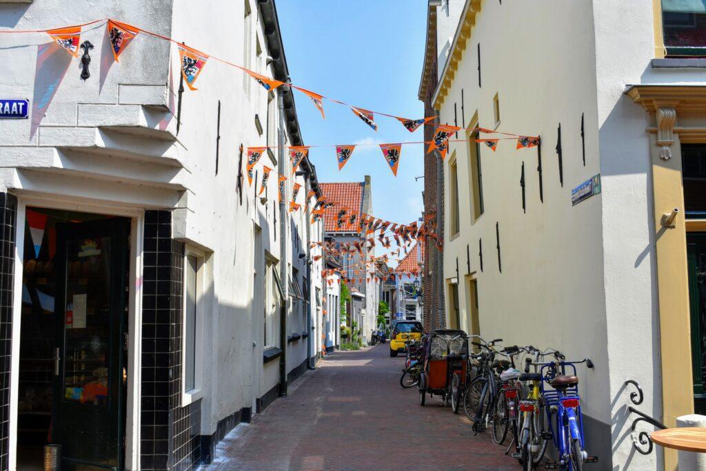 Oranje straten in Harderwijk