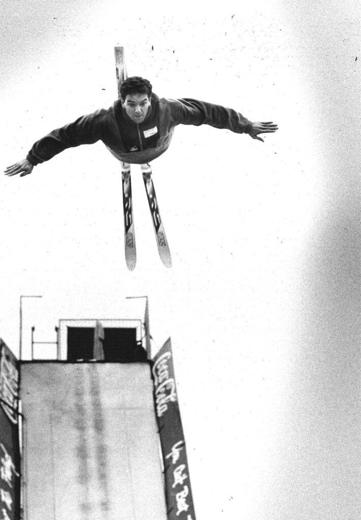 Michiel de Ruiter in november 1993 bij de Olympische Spelen Ermelo