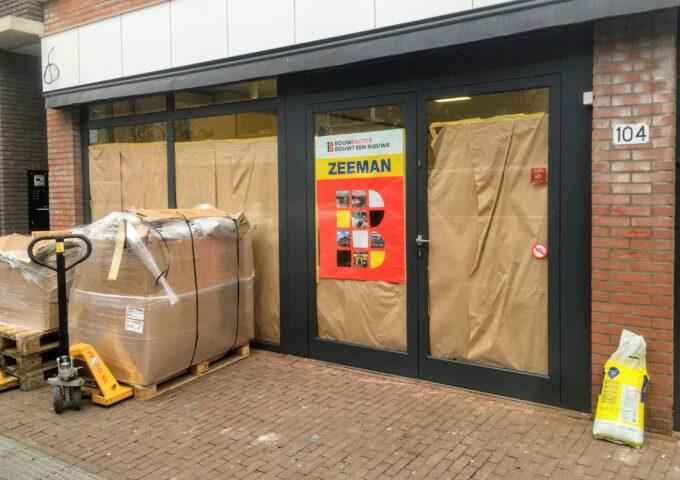 Zeeman in Ermelo is aan het verbouwen dicht gesloten opening