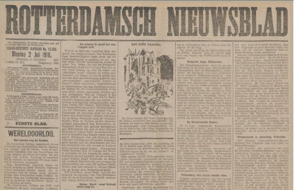 Rotterdamsch Nieuwsblad 2 juli 1918