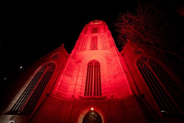 Rotterdam kleurt rood