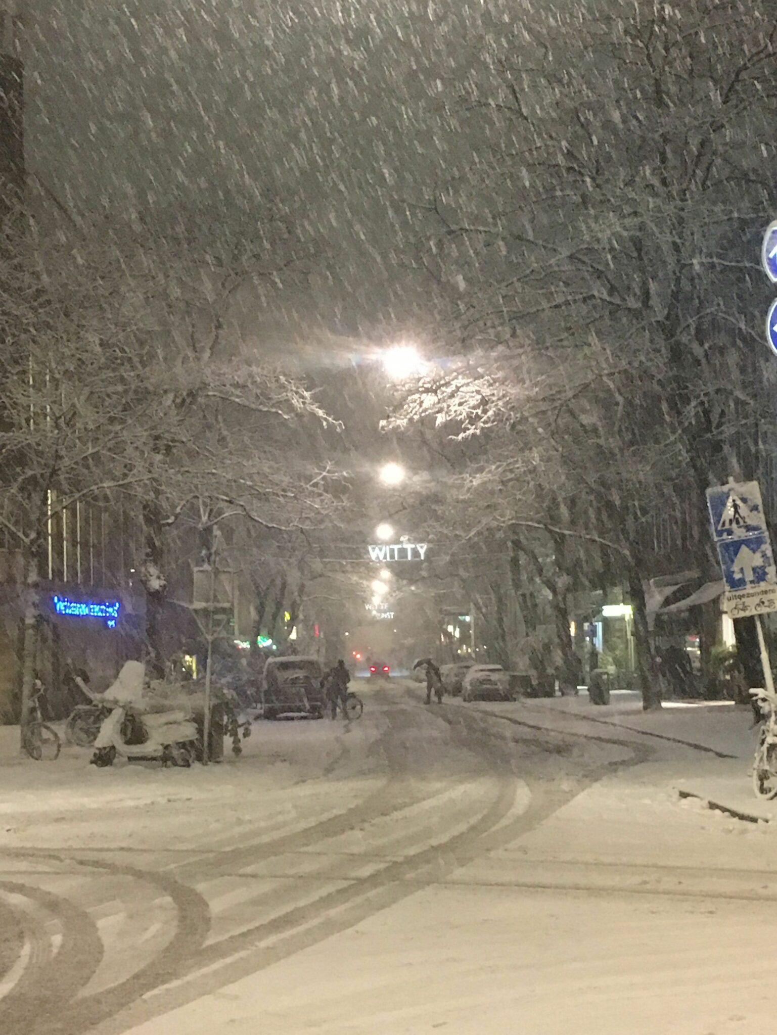 Sneeuw in Rotterdam