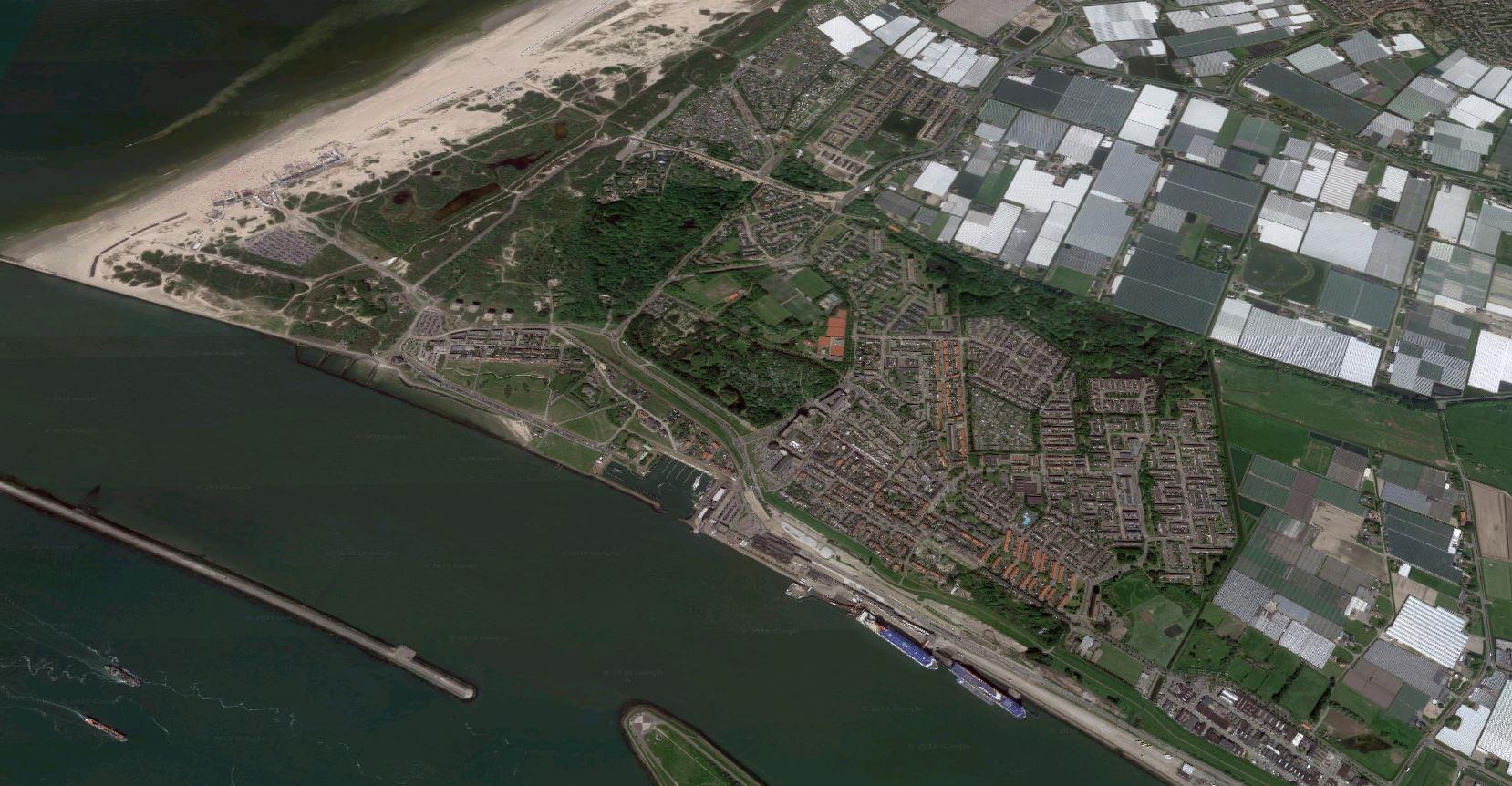 Hoek van Holland en de Nieuwe Waterweg