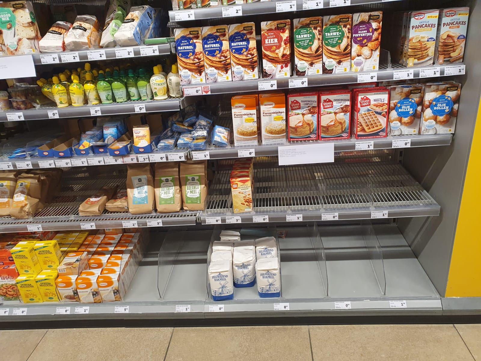 Meel in de supermarkt