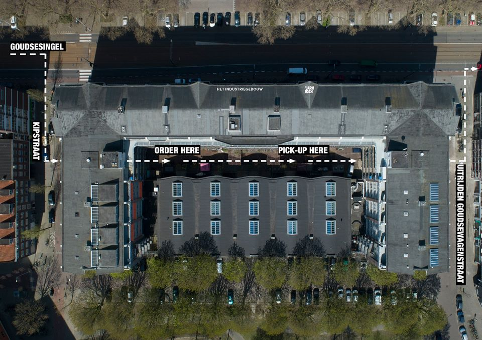 Industriegebouw drive-thru plattegrond