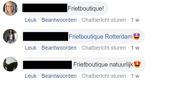 frietboutique - Facebook inzendingen