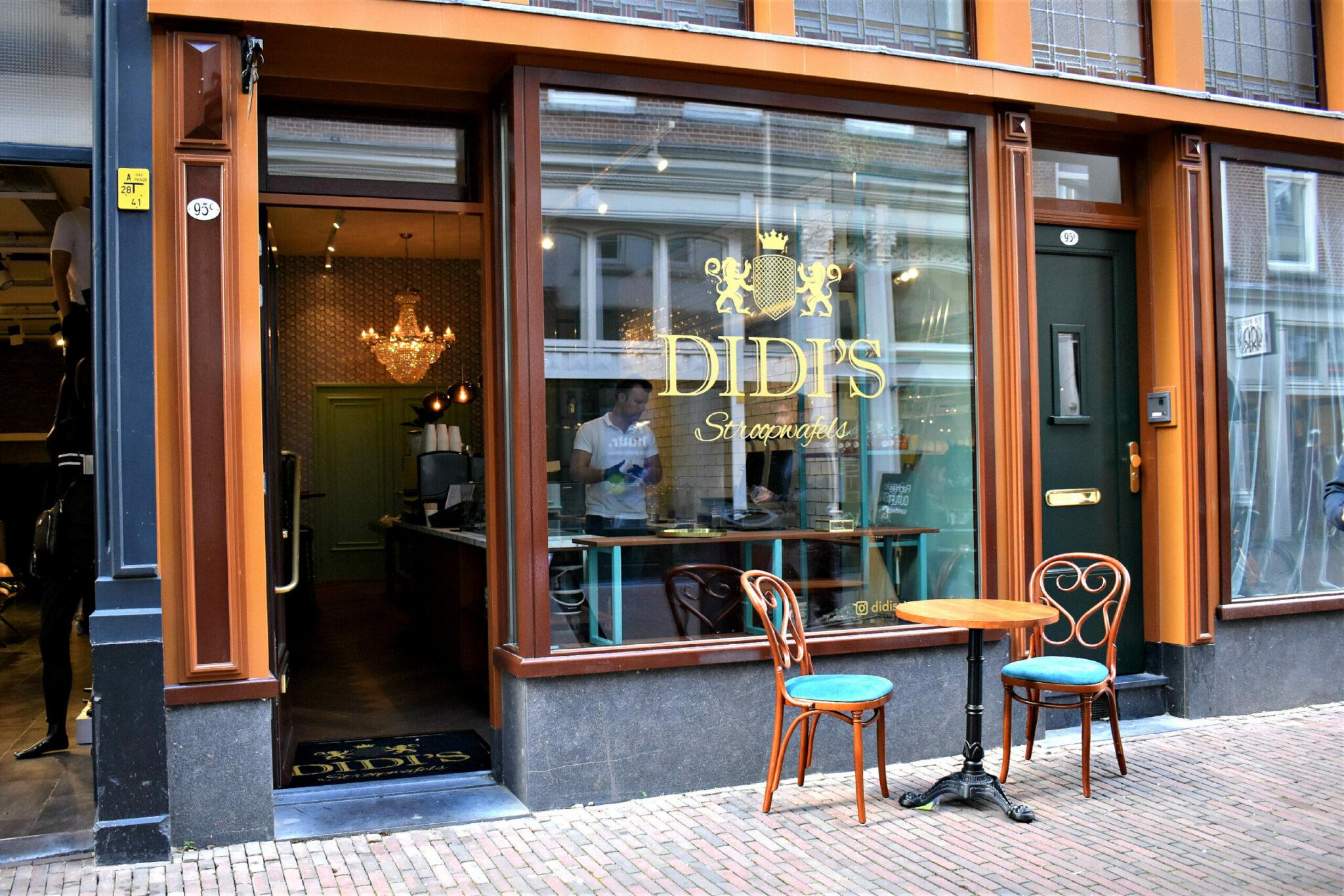 Didi's wafels buitenkant Oude Binnenweg Rotterdam