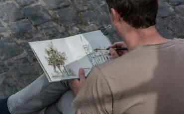 urban sketcher jeffrey de bruin luik2