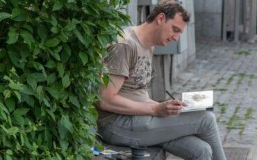 urban sketcher jeffrey de bruin luik