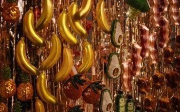 Kerstballen fruit 's Zomers
