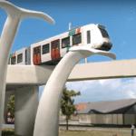 De miniatuurversie van de metro op de walvisstaart - Still uit Youtubevideo van Miniworld Rotteram