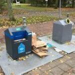 Papiercontainer vol Rotterdam