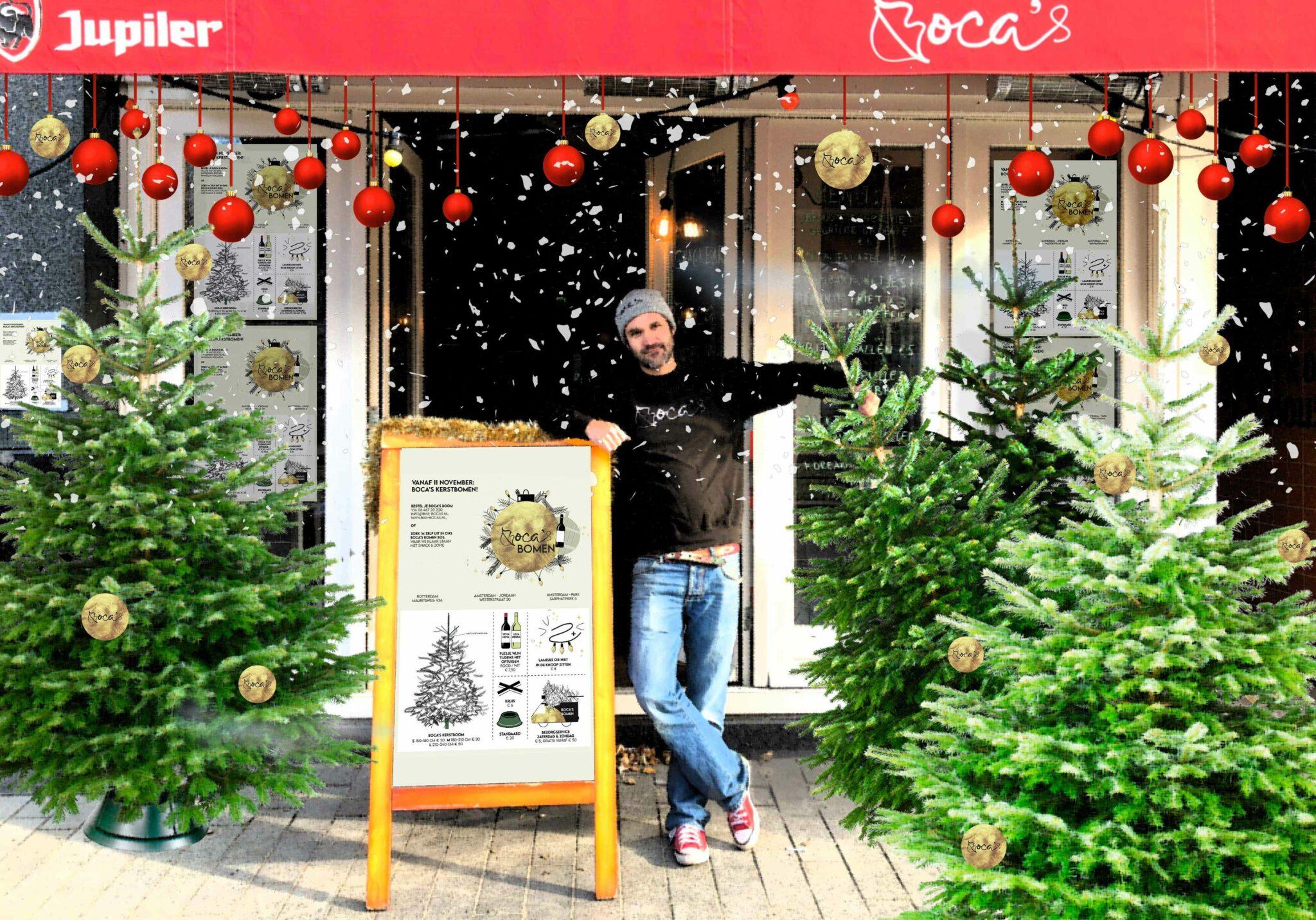 Kerstbomen Rotterdam oliebollen Rotterdam Boca's Bomen Bos