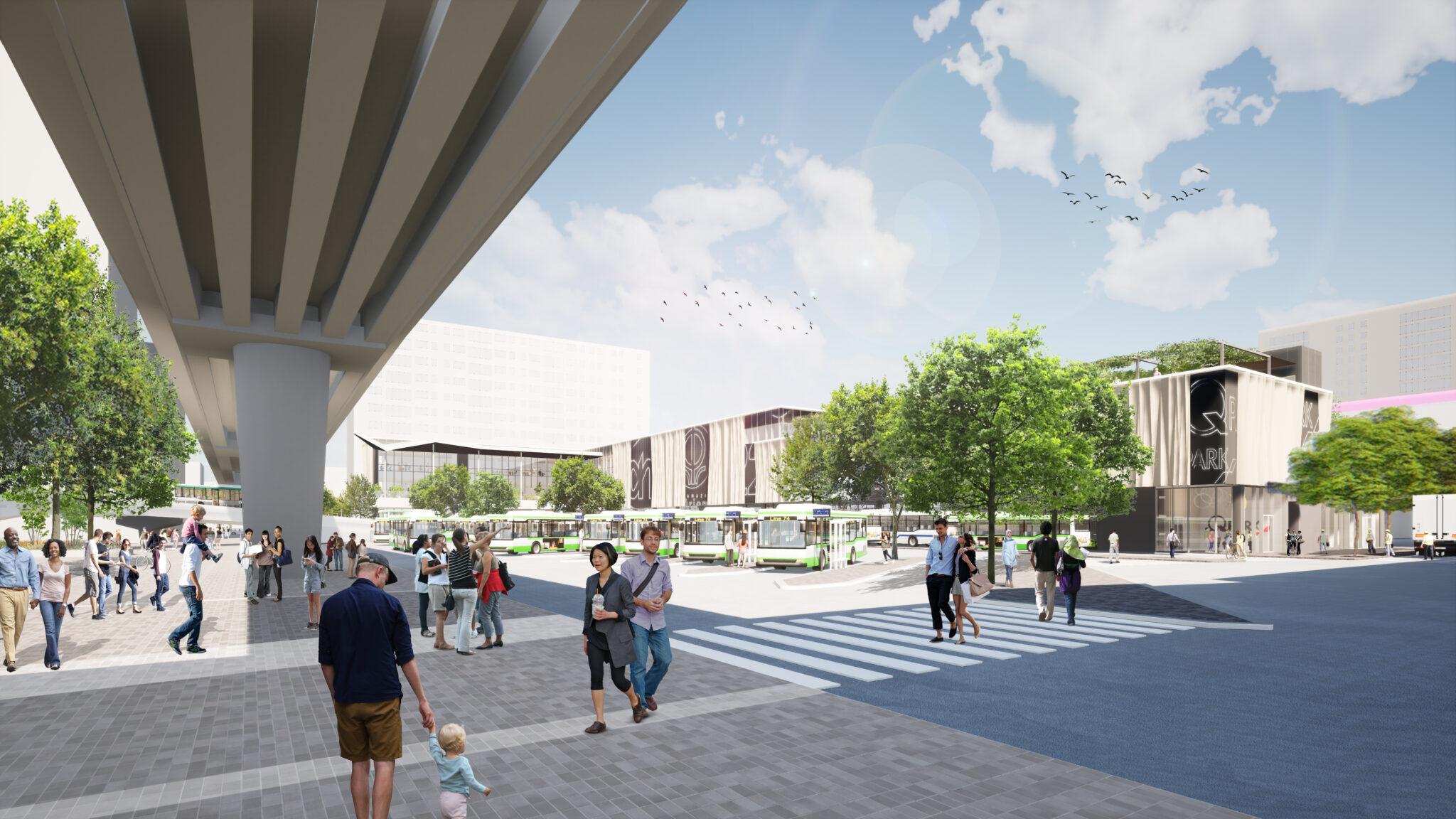 nieuwe zuidplein busstation en winkelcentrum