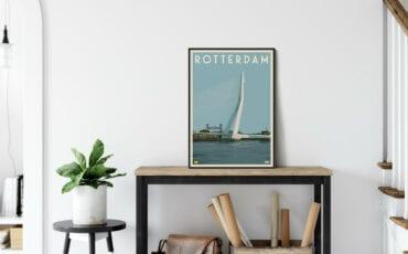 Vintage Stadsposters poster Rotterdam winactie