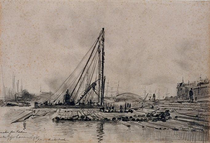 de Rijnhaven in 1895