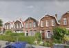 Huizen aan de Burgemeester Bosstraat in Overschie