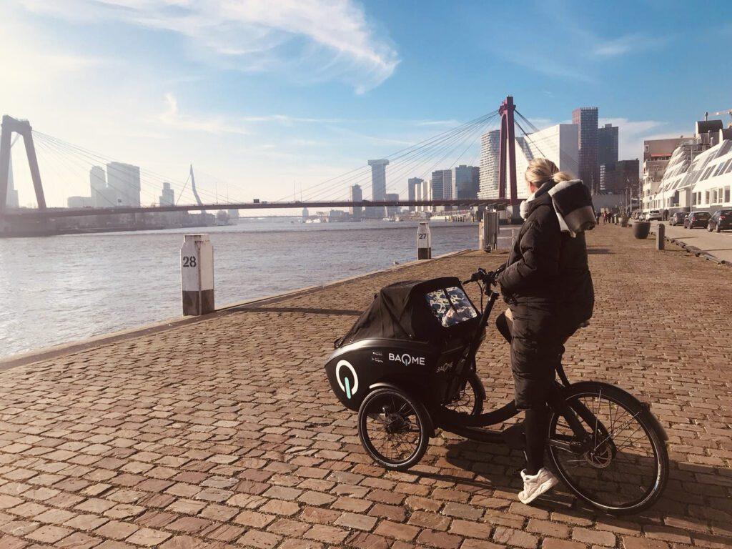 BAQME elektrische bakfiets deelvervoer