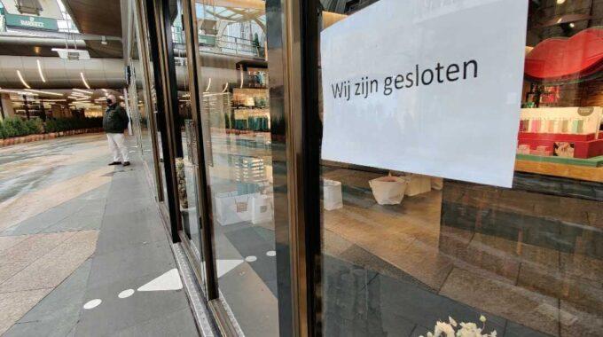gesloten winkels corona lockdown