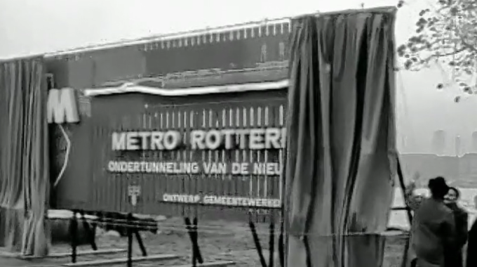 Start bouw metro 1960, video Bas Romeijn