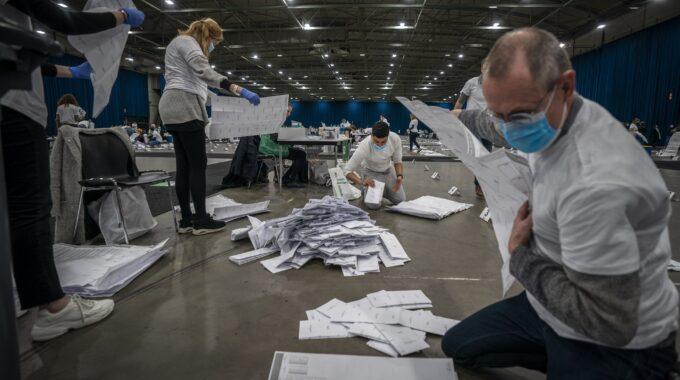 Stemmen tellen in Ahoy