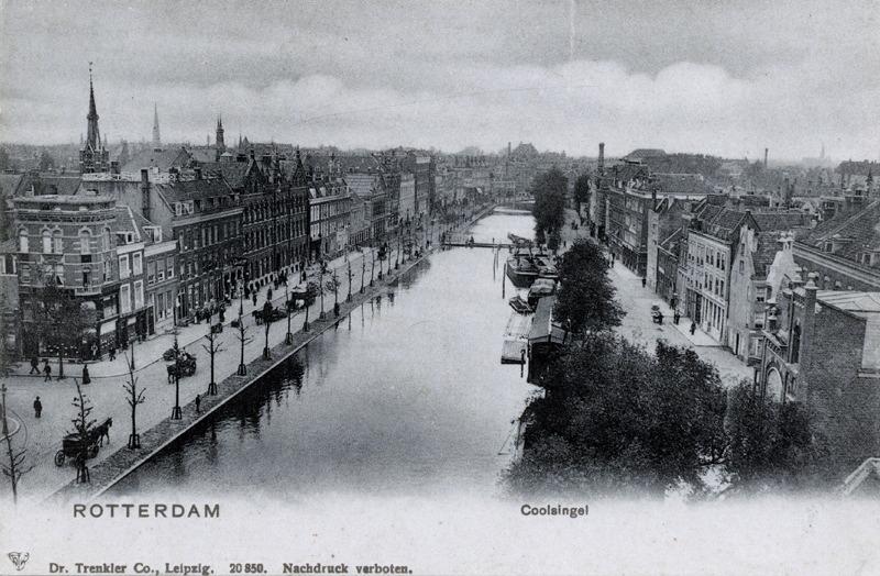 Het water bij de Coolsingel rond 1900